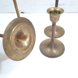 Vintage Accents - Set of 4 Vintage Slender Brass Candle Sticks